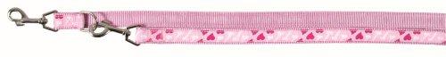 Trixie Modern Art Rose Herz Print verstellbare Hundeleine Leine, XS, pink