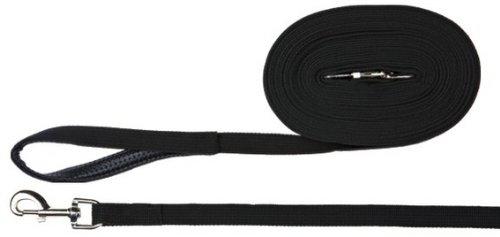 Trixie 19901 Schleppleine, Gurtband 5 m/20 mm, schwarz
