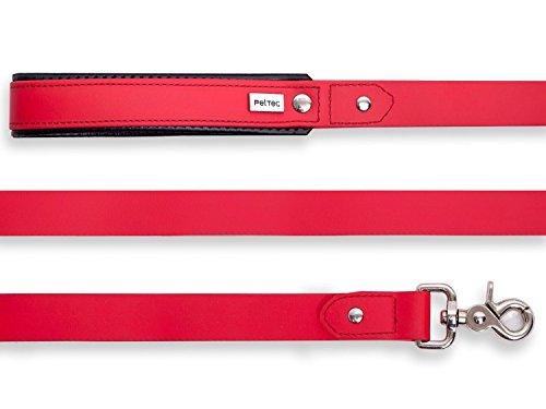 PetTec Schleppleine 10m oder 5m aus Trioflex™, Wetterfest, Wasserabweisend, Robuste Hundeleine in Rot, Braun, Orange (2m, Rot)