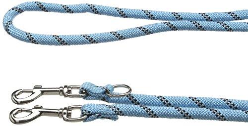 Trixie Sportliche Seil Verstellbare Hundeleine Leine, Größe L/Large, Hellblau