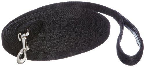 Trixie Schleppleine, Gurtband 15 m x 20 mm, schwarz