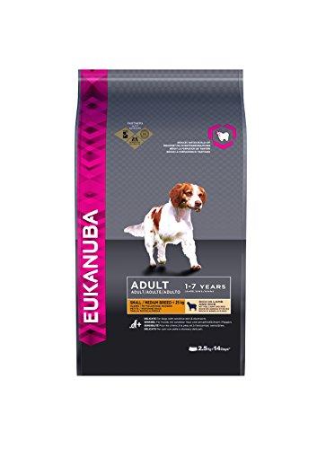 Eukanuba Premium Hundefutter mit Lamm & Reis, Trockenfutter für sensible Hunde kleiner und mittlerer Rassen (1 x 2,5 kg)