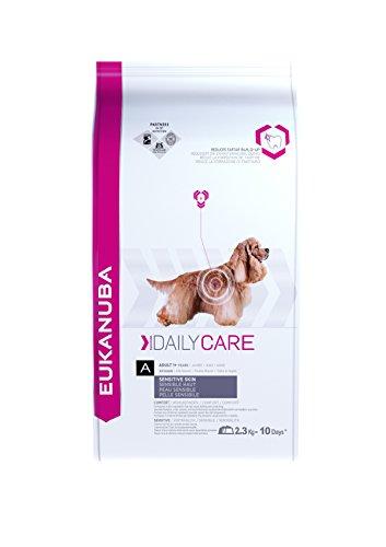 Eukanuba Daily Care, Hundefutter für Hunde mit sensibler Haut, Trockenfutter mit Fisch und Huhn (1 x 2,3 kg)