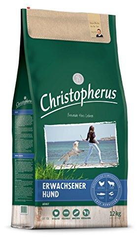 Christopherus Adult, Vollnahrung für ausgewachsene Hunde mit normaler bis gesteigerter Aktivität, Trockenfutter, Geflügel, Lamm, Ei, Reis, Erwachsener Hund, 12,0 kg