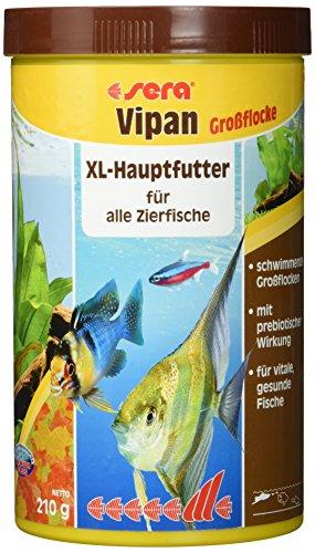 sera 00175 vipan Großflocken 1000 ml –  der Klassiker – Hauptfutter für alle Zierfische in Gesellschaftsaquarien, Flockenfutter, für schönere und größere Fische