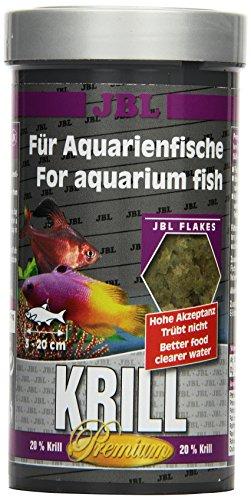 JBL Premium Alleinfutter für alle Aquarienfische, Flocken 250 ml, Krill 40582