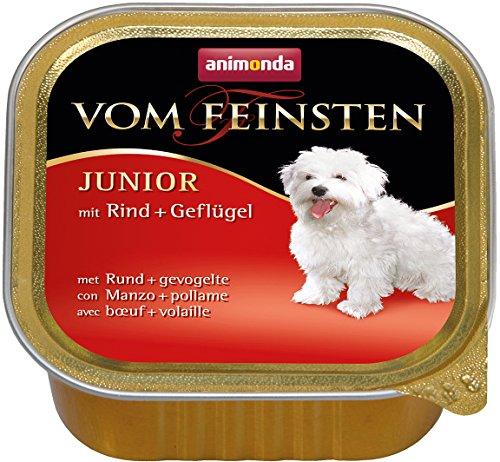 Animonda vom Feinsten Junior 82620 Rind+Geflügel 22 x 150 g Schale – Hundefutter