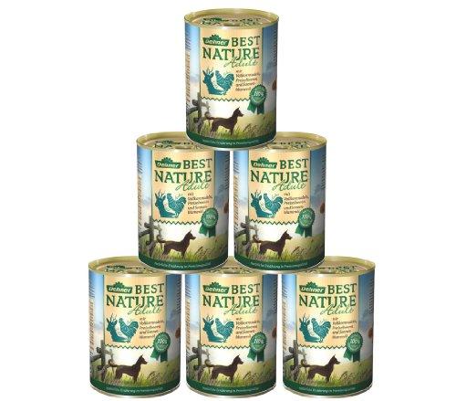 Dehner Best Nature Hundefutter, Adult Wild und Huhn mit Nudeln, 6 x 400 g (2.4 kg)