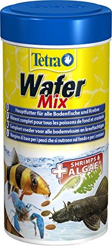 TetraWafer Mix Hauptfutter (in Waferform für alle Bodenfische und Krebse, ausgewogenes Premiumfutter mit Shrimps, Spirulina-Algen für verbessertes Immunsystem), 250 ml Dose
