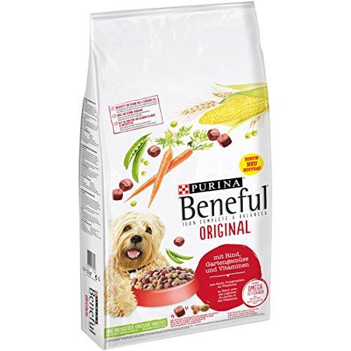 Purina BENEFUL Hundetrockenfutter Original mit Rind & Gemüse, 12 kg Sack