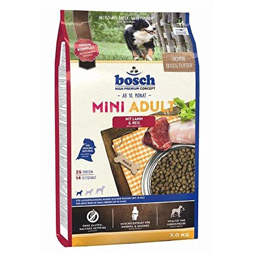 bosch Hundefutter Mini Adult Lamm und Reis, 1er Pack (1 x 3 kg)