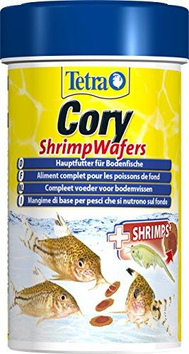 Tetra Cory Shrimp Wafers (Hauptfutter für am Boden fressende Fische wie Corydoras und andere Welse, mit 10 % Shrimps), 100 ml Dose