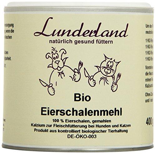 Lunderland – Bio-Eierschalenmehl, 400 g, 1er Pack (1 x 400 g)