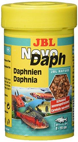 JBL Leckerbissen für Aquarienfische, naturgetrocknete Wasserflöhe 100 ml, NovoDaph 30700