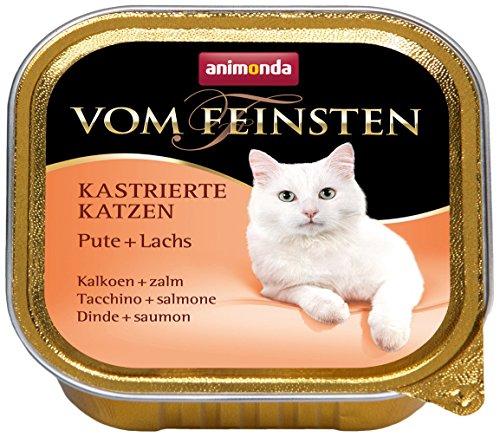 Animonda vom Feinsten Katzenfutter für kastrierte Katzen Pute + Lachs, 32er Pack (32 x 100 g)