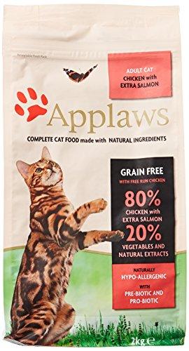 Applaws Katzentrockenfutter mit Hühnchen & Lachs, 1er Pack (1 x 2 kg Packung)