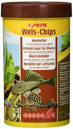 sera 00511 Wels-Chips 250 ml – Die Chips für raspelnde Welse (z.B. Ancistrus und L-Welse)