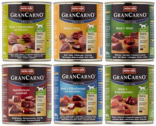 Animonda Gran Carno Hundefutter Probierpack Adult Mix 2 , (6 x 800 g)