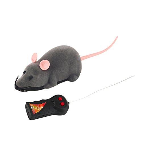 ROSENICE Fernbedienung Ratte Plüschmaus Spielzeug für Katze Hund Kind (Grau) by ROSENICE