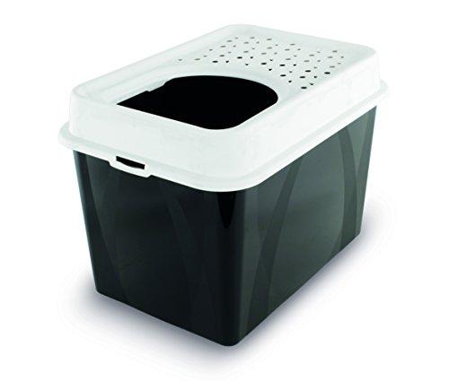 Rotho Katzentoilette Berty mit Top-Eingang – einfach zu reinigendes Katzenklo – aus Kunststoff(Plastik (PP) – Größe (LxBxH) 55.5 x 40 x 38.7 cm