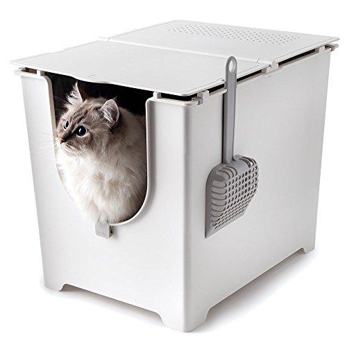 Modko Modkat: Innovative Katzentoilette Katzenklo mit Klappdeckel FLIP