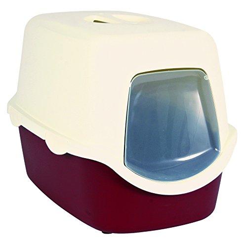 Trixie 40273 Vico Katzentoilette, 40 × 40 × 56 cm, bordeaux/creme