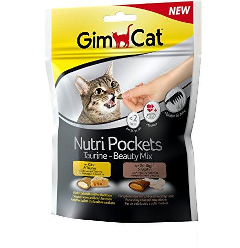 GimCat Nutri Pockets Taurine-Beauty Mix, 1er Pack (1 x 150 g)