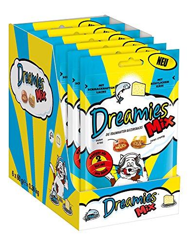 Dreamies Mix mit Lachs & Käse 6 x 60g