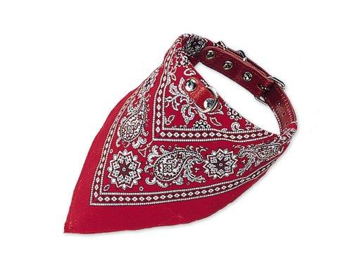 Nobby Halsband mit Tuch, rot, Länge 40 cm