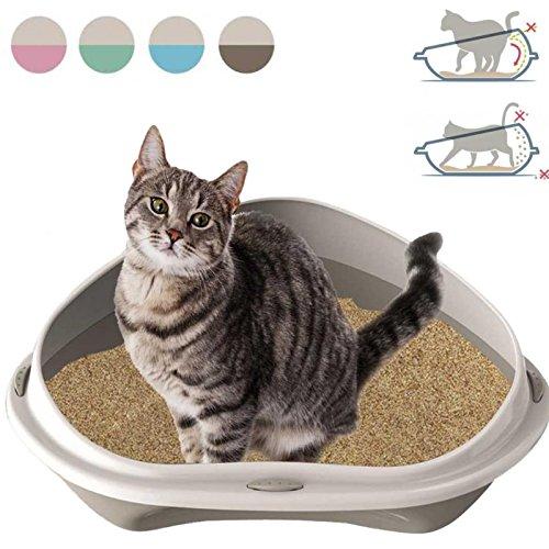 Katzenklo für die Ecke Tierklo Katzen Klo WC Katzentoilette Toilette