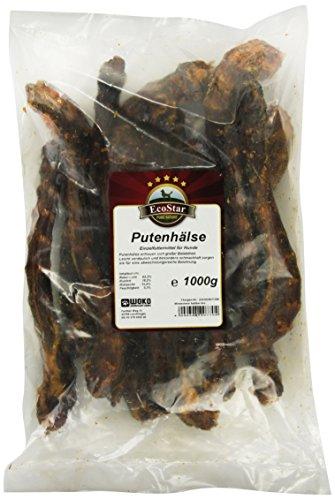 EcoStar Hunde Snack Putenhälse 1kg, 1er Pack (1 x 1 kg)