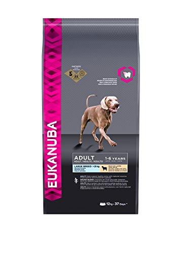 Eukanuba Premium Hundefutter mit Lamm & Reis, Trockenfutter für sensible Hunde großer Rassen (1 x 12 kg)