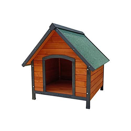 Gardiun KNH1210 Hundehütte aus Holz Sweet. 2 Wasserdach Maße: 72 x 76 x 76 cm.