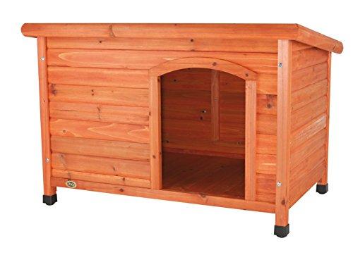 Trixie 39553 natura Hundehütte Classic mit Flachdach, L: 116 × 82 × 79 cm, braun