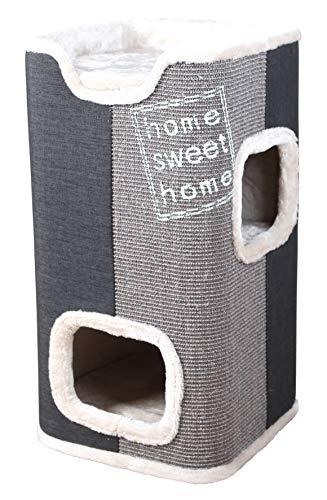 Trixie 44957 Cat Tower Jorge, 78 cm, anthrazit/lichtgrau/grau