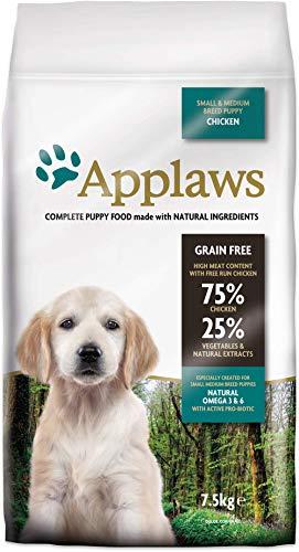 Applaws Hunde Trockenfutter Puppy small/medium Breed Huhn, 1er Pack (1 x 7,5 kg)