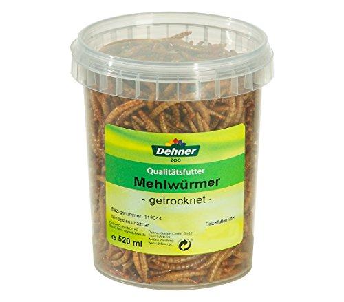 Dehner Vogel, Nager, Fischfuttersnack, getrocknete Mehlwürmer, 520 ml