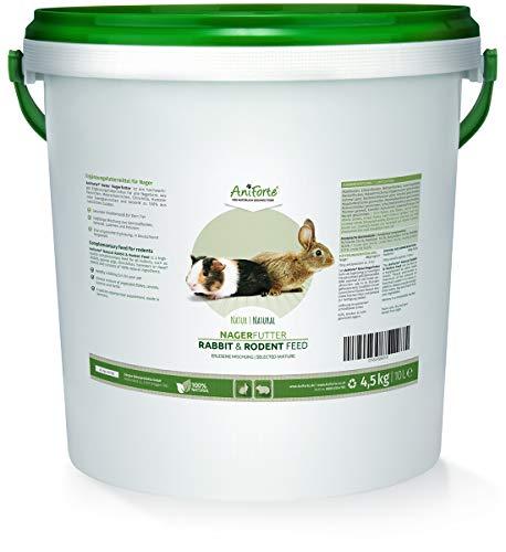 AniForte Natur Nagerfutter 10 Liter für Nager, Hamster, Meerschweinchen, Kaninchen – Artgerechtes Ergänzungsfuttermittel, Nagetier Futter mit Erbsen, Weizen, Mais, Luzerne, Löwenzahn