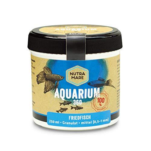 Nutramare Aquarium360 Friedfisch 250ml | Hochwertiges Fischfutter für Friedfische, Granulat mit Spirulina