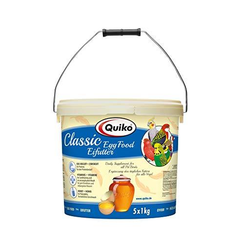 Quiko Classic – Eifutter, Kraft- und Aufzuchtfutter für alle Ziervogelarten, 1er Pack (1 x 5 kg)