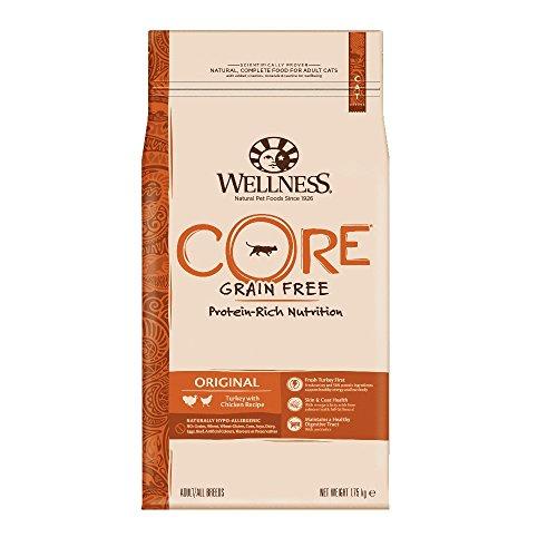 Wellness CORE Original Getreidefreies Katzenfutter Trocken, Hoher Fleischanteil, Pute und Huhn, 1,75 kg