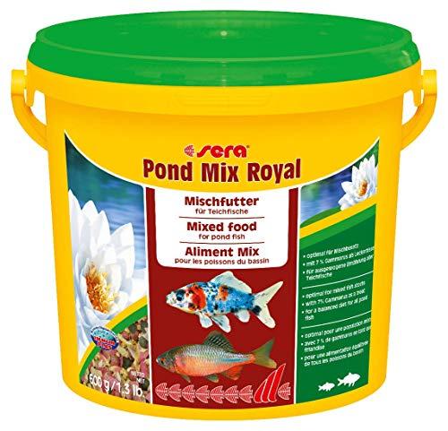 sera 07102 pond mix royal 3800 ml – Futtermischung aus Flocken, Sticks und mit 7 % Gammarus als Leckerbissen für alle Teichfische