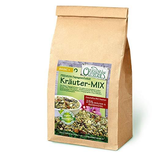 Original-Leckerlies: Kräuter-Mix 500g, Permium Qualität*** Papageienfutter mit geschälten Saaten, hoher Anteil an Kräutern, Bio-Getreide und leckeren Hagebutten und Ebereschenbeeren