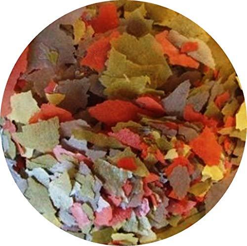 Flockenfutter Hauptflocken Flocken 4 farbig Fischfutter Aquarium Zierfischflocke (10 l)