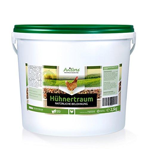 AniForte Hühnertraum für Hühner 2,5kg – Natürliche Futter Belohnung, Ausgewogen & Artgerecht mit wertvollen Kräutern, Ohne künstliche Zusätze