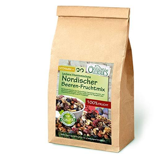 Original-Leckerlies: Nordischer Beeren-Fruchtmix 200g, Premium Qualität*** Papageienfutter, 100% Beeren und Früchte aus Deutschland, Futterergänzung für Papageien