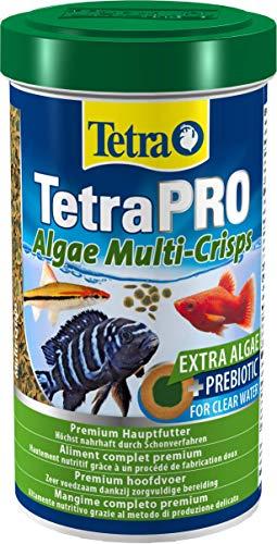 Tetra Pro Algae Premiumfutter (für alle tropischen Zierfische, mit Algenkonzentrat zur Verbesserung der Widerstandskraft, Vitaminstabilität und hoher Nährwert, Spirulina-Alge), 500 ml Dose