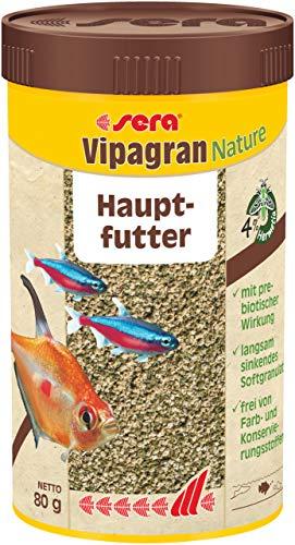 sera 00202 vipagran 250 ml – das Hauptfutter aus langsam sinkendem Softgranulat