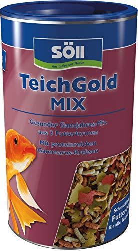 Söll  18808 Teich-Gold Mix – Alleinfuttermittel für alle Teichfische – Fischfutter – Gartenteich, 1er Pack (1 x 110 g)
