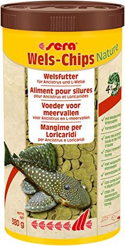 sera 00508 Wels-Chips 1000 ml – Die Chips für raspelnde Welse (z.B. Ancistrus und L-Welse)